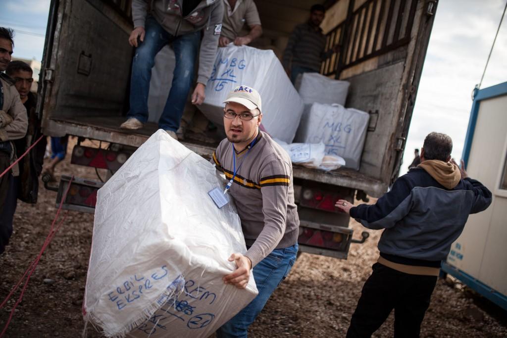 Distribution de kits d'hiver - Camp de Garmawa - Gouvernorat de Ninewah