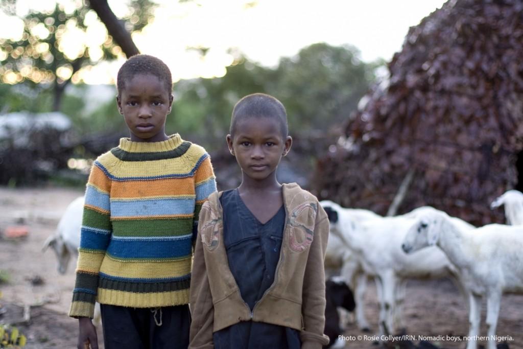 © Rosie Collyer/IRIN. Nomadic boys, northern Nigeria.