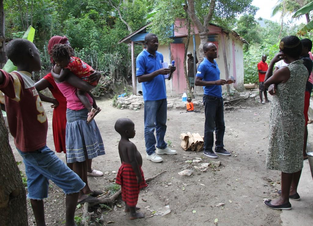 Chol ra entre sensibilisation et d contamination for Acheter une maison en haiti