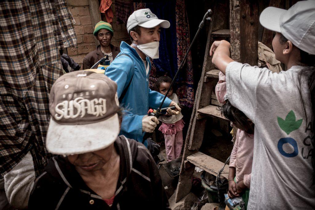 Madagascar Désinfection de la peste